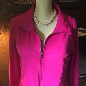 Under Armour Fuchsia Rose Full Zip Golf Jacket